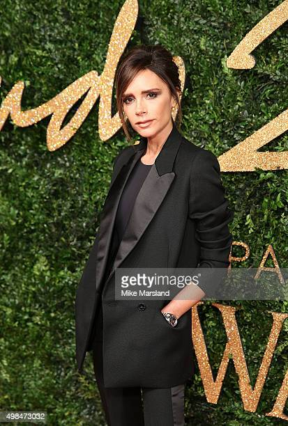 Victoria Beckham attends the British Fashion Awards 2015 at London Coliseum on November 23 2015 in London England