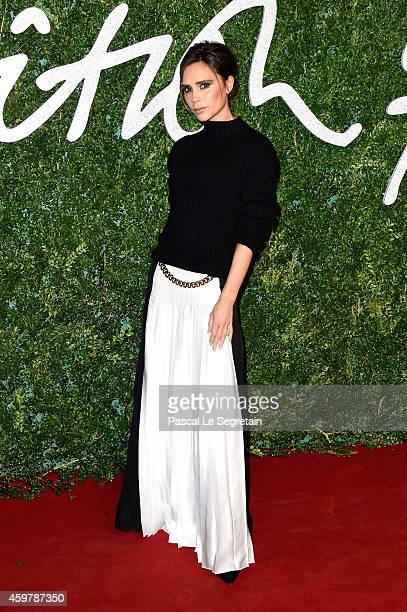 Victoria Beckham attends the British Fashion Awards at London Coliseum on December 1 2014 in London England