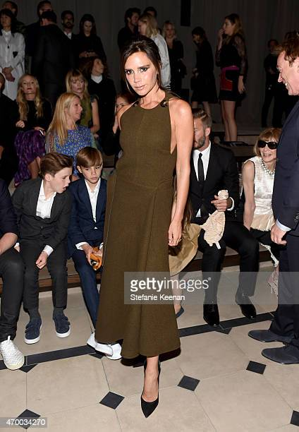 Victoria Beckham attends the Burberry 'London in Los Angeles' event at Griffith Observatory on April 16 2015 in Los Angeles California