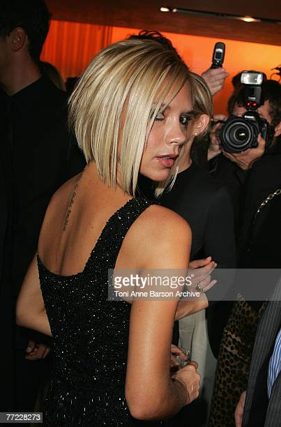 Victoria Beckham attends the cocktail party to celebrate the opening of the Roberto Cavalli flagship store on avenue Montaigne on October 4 2007 in...