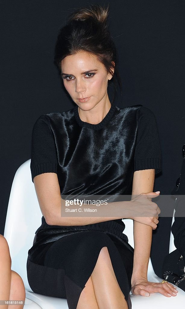 Victoria Beckham attends the International Woolmark prize grand final during London Fashion Week Fall/Winter 2013/14 at ME Hotel on February 16, 2013 in London, England.