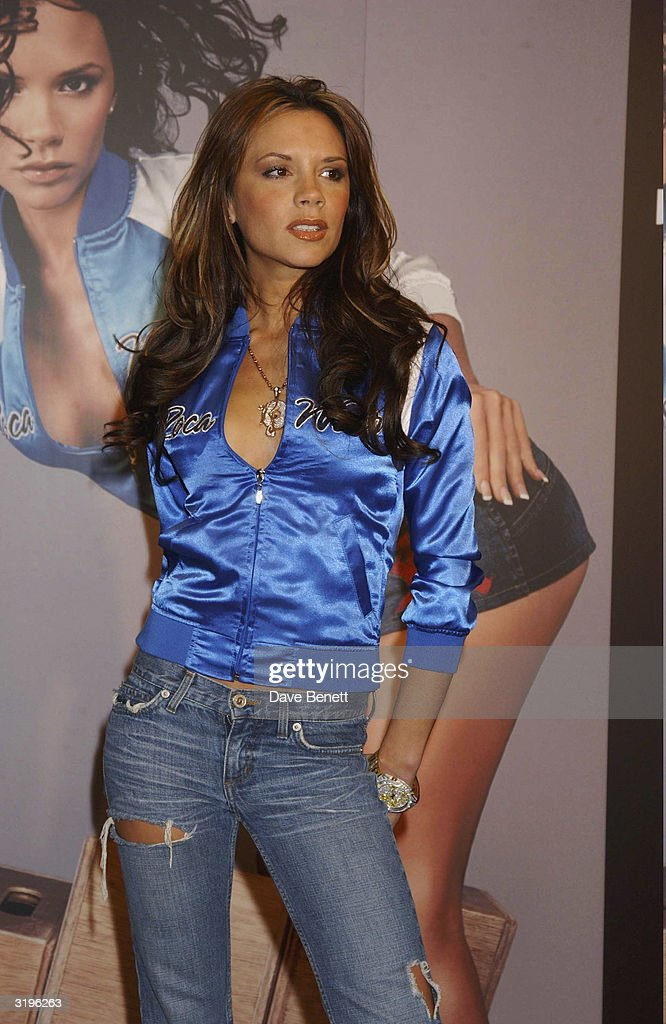 <a gi-track='captionPersonalityLinkClicked' href=/galleries/search?phrase=Victoria+Beckham&family=editorial&specificpeople=161100 ng-click='$event.stopPropagation()'>Victoria Beckham</a> attends the launch of Rocawear at Selfridges on December 10, 2003 in London. (Photo by Dave Benett/Getty Images