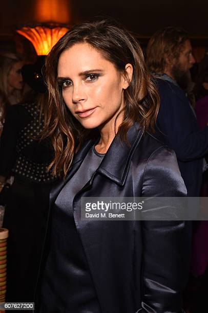 Victoria Beckham attends the launch of 'Vogue Voice Of A Century' a new book celebrating Vogue Britain's centenary year hosted by Alexandra Shulman...