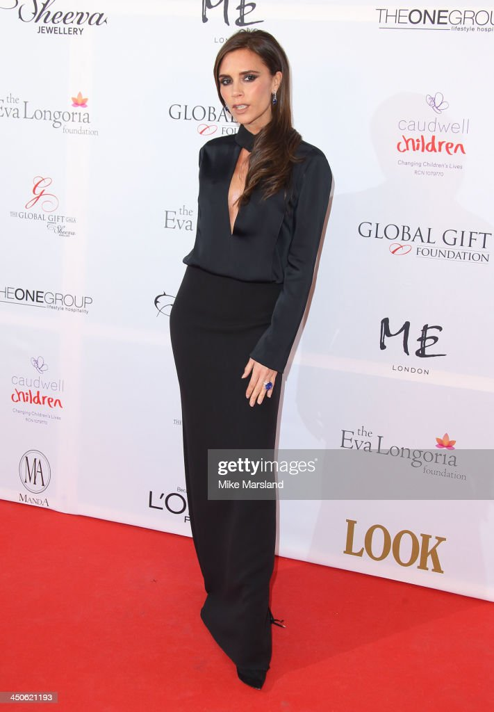 Victoria Beckham attends the London Global Gift Gala at ME Hotel on November 19, 2013 in London, England.