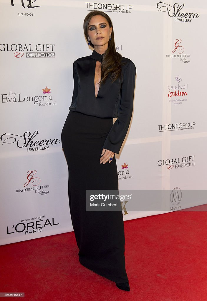 <a gi-track='captionPersonalityLinkClicked' href=/galleries/search?phrase=Victoria+Beckham&family=editorial&specificpeople=161100 ng-click='$event.stopPropagation()'>Victoria Beckham</a> attends the London Global Gift Gala at ME Hotel on November 19, 2013 in London, England.