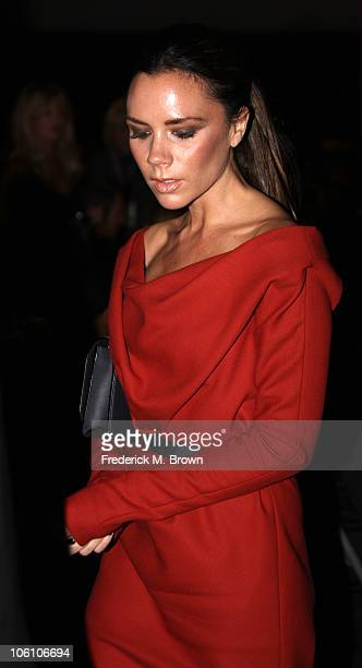 Victoria Beckham attends the Maria Shriver Women's Conference at the Long Beach Convention Center on October 26 2010 in Long Beach California