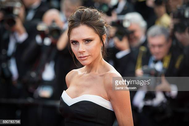 Victoria Beckham attends the screening of 'Cafe Society' at the opening gala of the annual 69th Cannes Film Festival at Palais des Festivals on May...