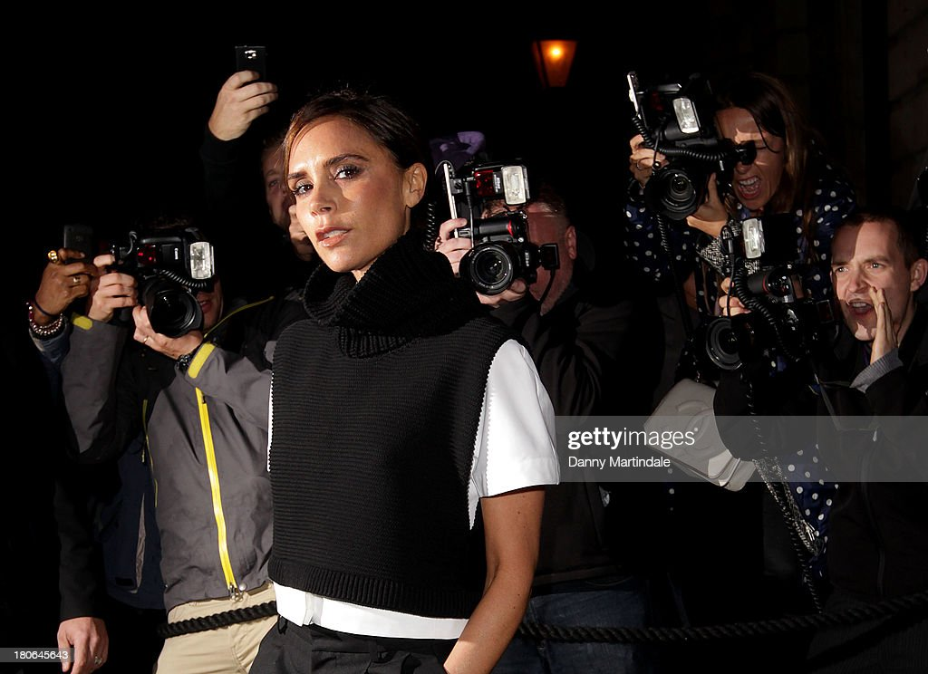 Victoria Beckham attends the Vogue party during London Fashion Week SS14 at on September 15, 2013 in London, England.