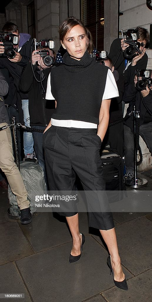 Victoria Beckham attends the Vogue party during London Fashion Week SS14 on September 15, 2013 in London, England.