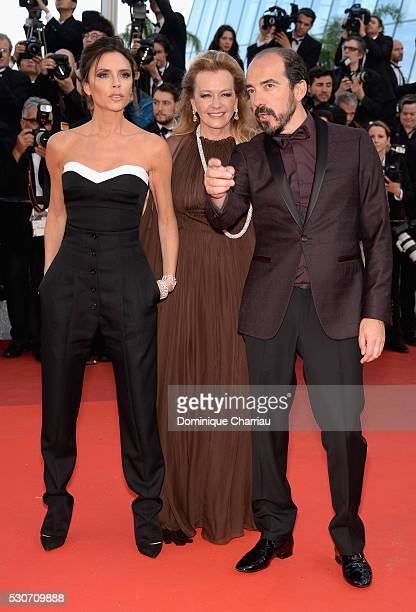 Victoria Beckham Caroline Scheufele and Alexis Veller attends the 'Cafe Society' premiere and the Opening Night Gala during the 69th annual Cannes...
