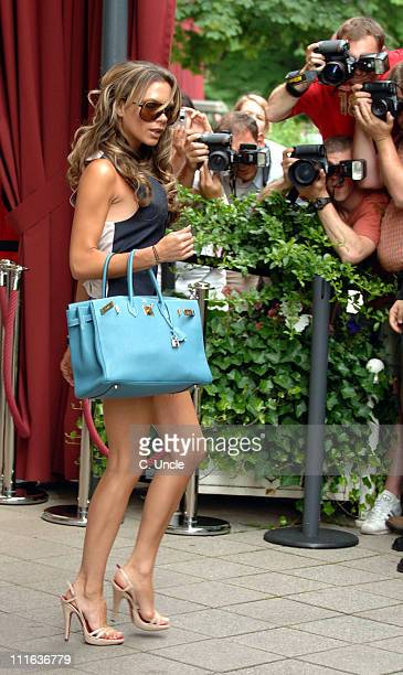 Victoria Beckham during England Football Players Wives and Girlfriends Depart to Cologne for England's Match Against Sweden 20 June 2006 in Baden...