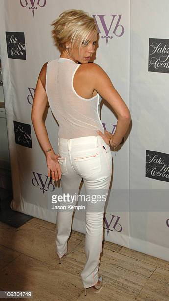 Victoria Beckham during Victoria Beckham Launches dVb Denim And Sunglasses June 14 2007 at Saks Fifth Avenue in New York City New York United States