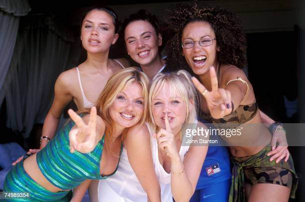 Victoria Beckham Geri Halliwell Melanie Brown Emma Bunton and Melanie Chisholm of the Spice Girls