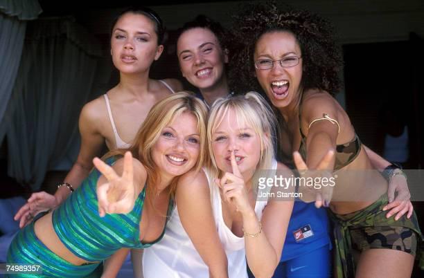 Victoria Beckham Geri Halliwell Melanie Brown Emma Bunton and Melanie Chisholm of the Spice Girls