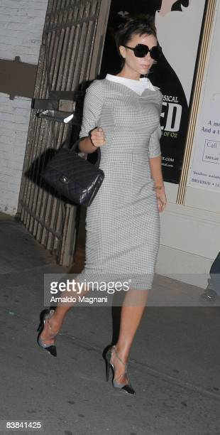 Victoria Beckham goes out for dinner with the family in Greenwich Village on November 26 2008 in New York City
