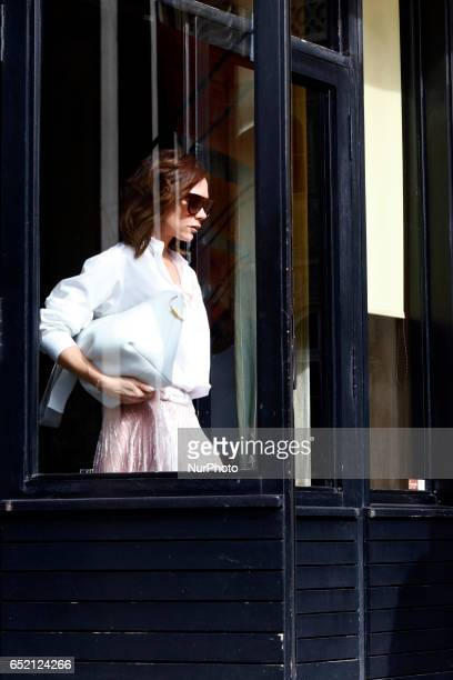 Victoria Beckham is see in Paris on march 11th 2017