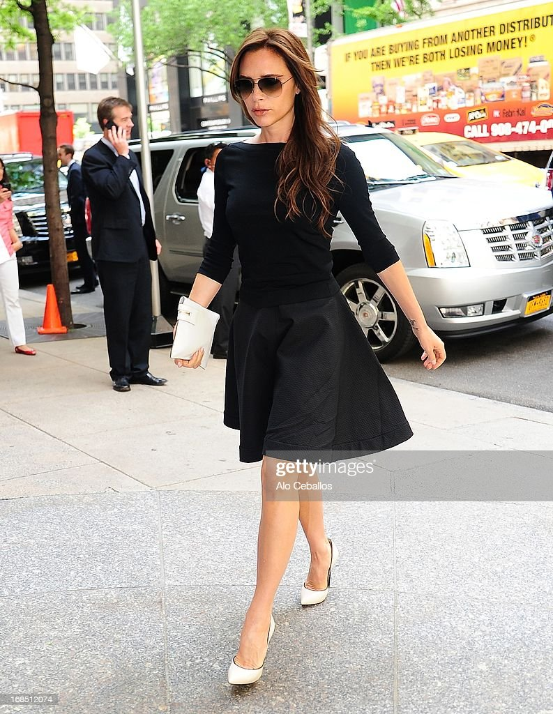 Victoria Beckham is seen arriving at her hotel on May 10, 2013 in New York City.