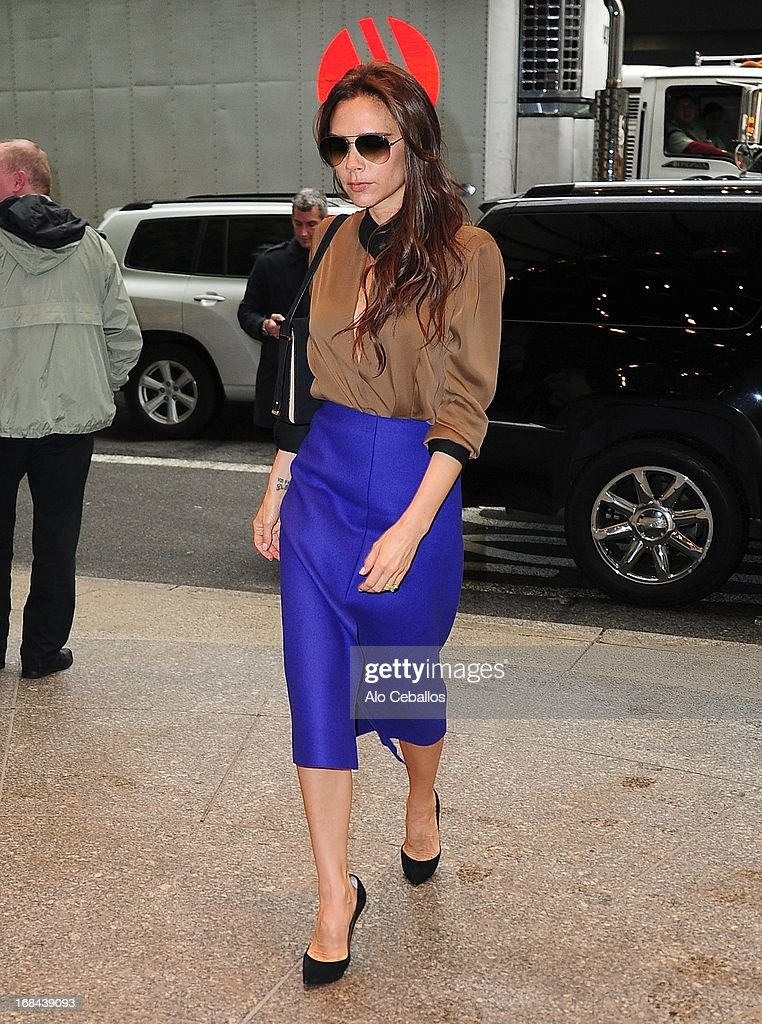 Victoria Beckham is seen arriving at her hotel on May 9, 2013 in New York City.