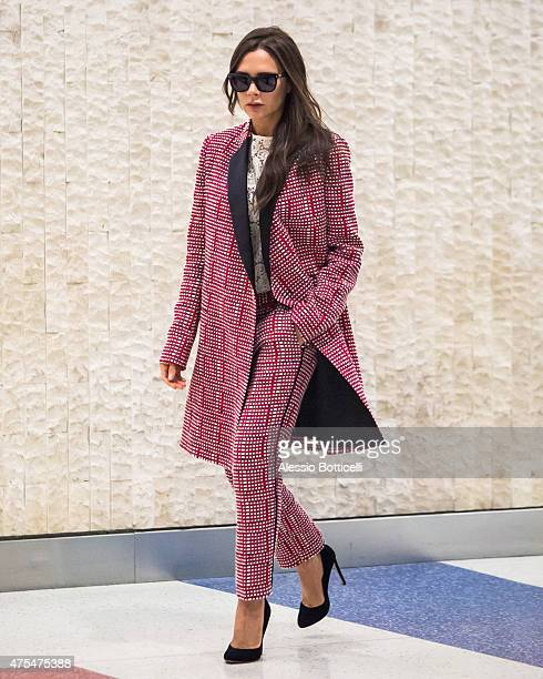 Victoria Beckham is seen arriving at JFK Airport on May 31 2015 in New York City