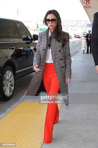 Victoria Beckham is seen at LAX on October 26 2015 in Los Angeles California