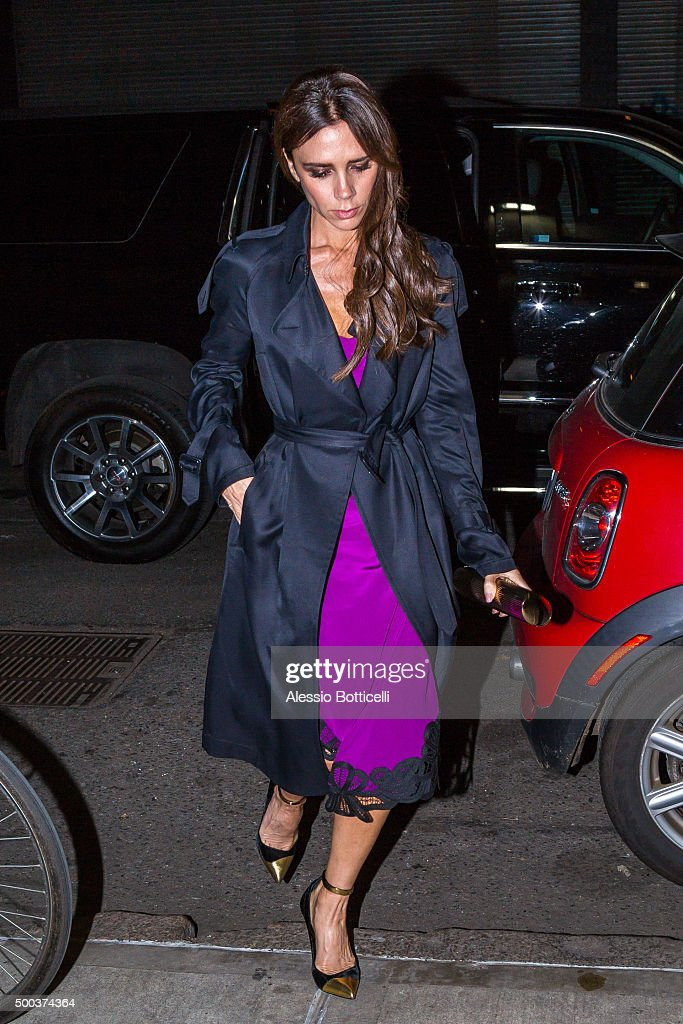 Victoria Beckham is seen heading to her showroom on December 7 2015 in New York City