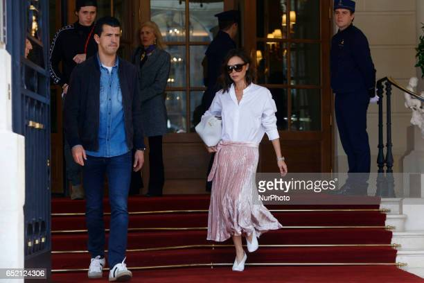 Victoria Beckham is seen in Paris on march 11th 2017 by Mehdi Taamallah / Nurphoto