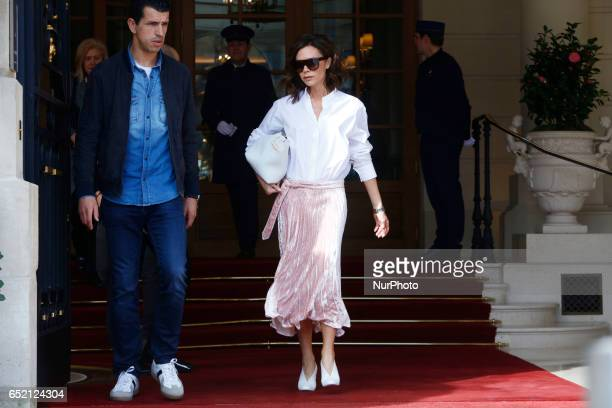 Victoria Beckham is seen in Paris on march 11th 2017
