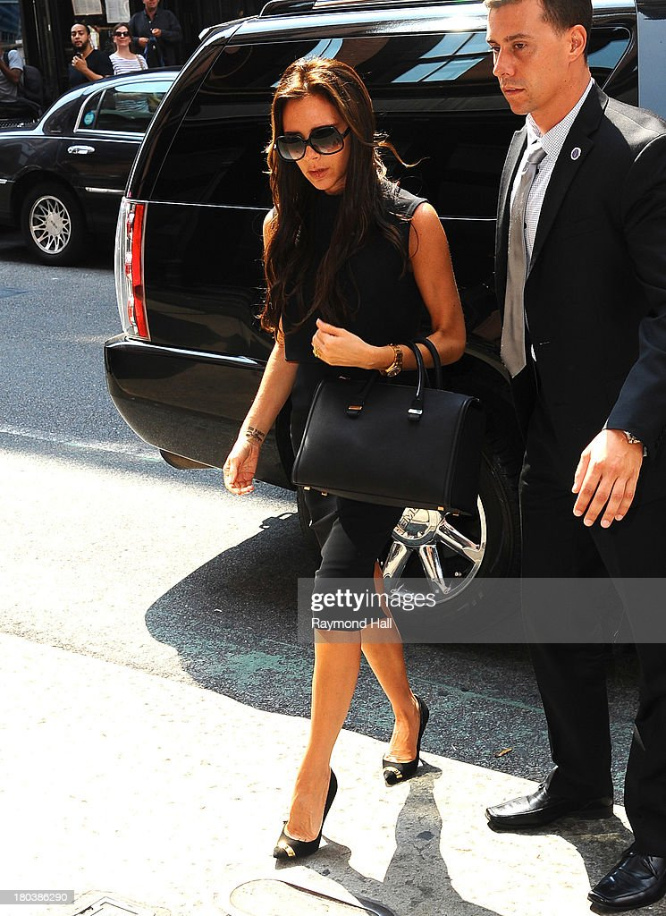 Victoria Beckham is seen in Soho on September 12, 2013 in New York City.Photo by Raymond Hall/FilmMagic)
