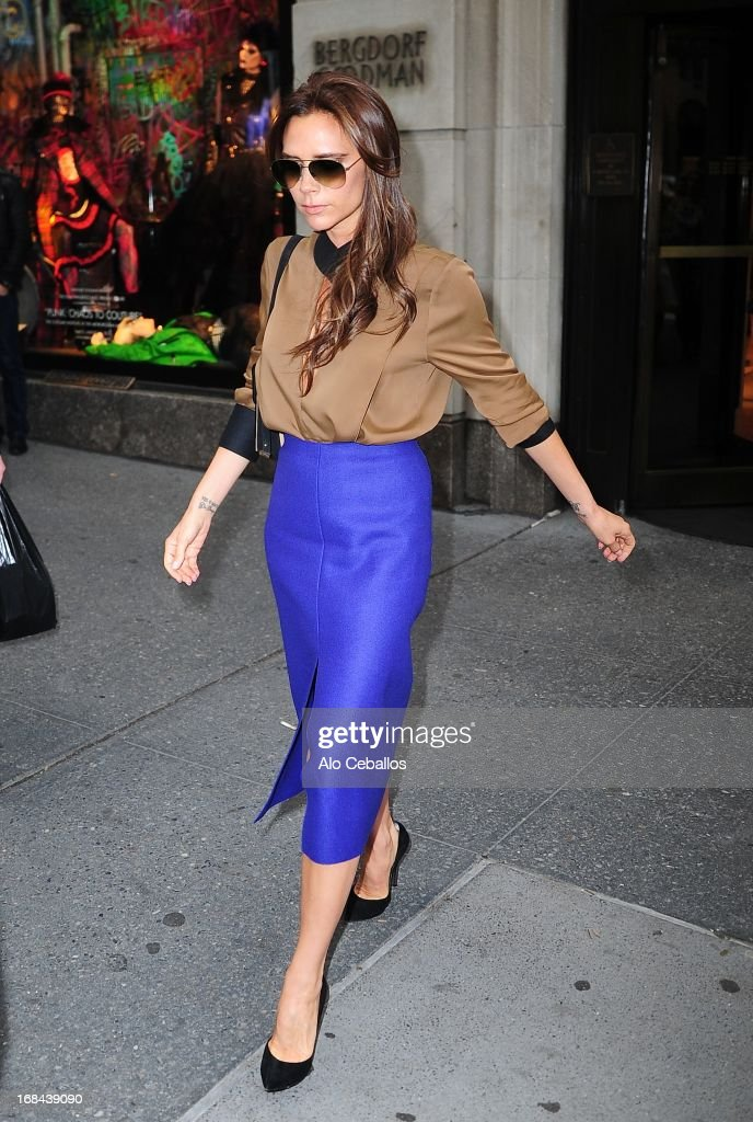 Victoria Beckham is seen leaving Bergdorf Goodman on May 9, 2013 in New York City.