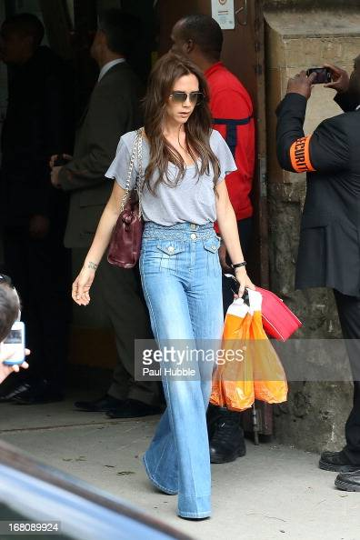 Victoria Beckham is seen leaving the Eiffel tower on May 5 2013 in Paris France