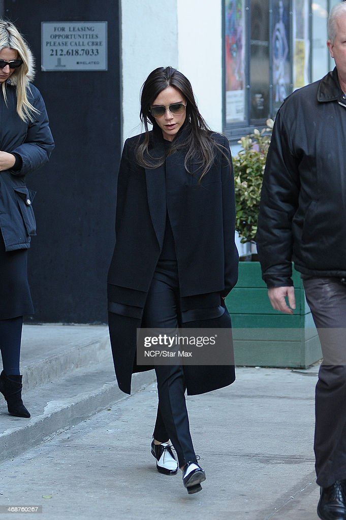 Victoria Beckham is seen on February 11, 2014 in New York City.