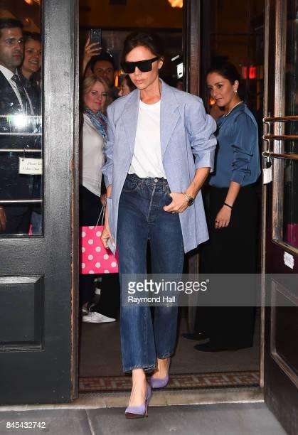 Victoria Beckham is seen outside Balthazar in Soho on September 10 2017 in New York City