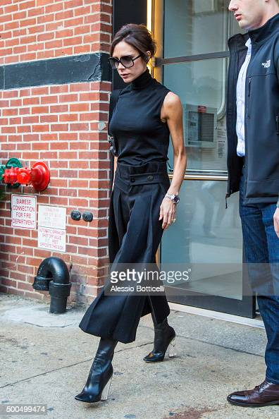 Victoria Beckham is seen visiting her showroom on December 8 2015 in New York City