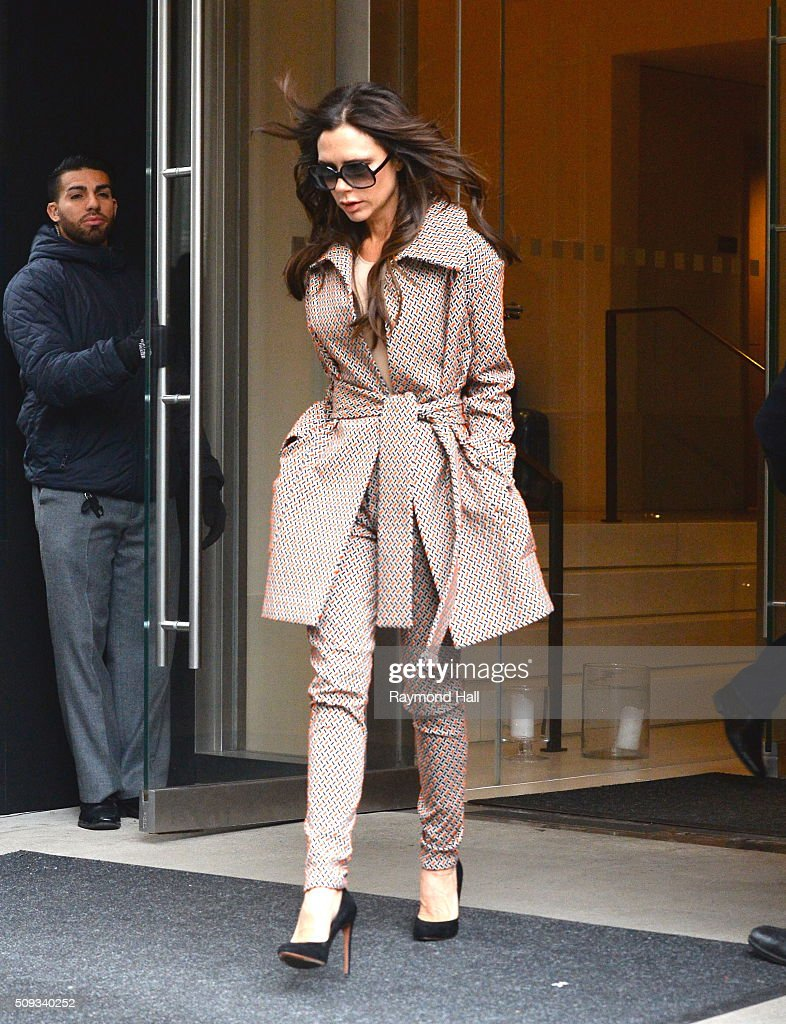 Victoria Beckham is seen walking in Soho on February 10, 2016 in New York City.