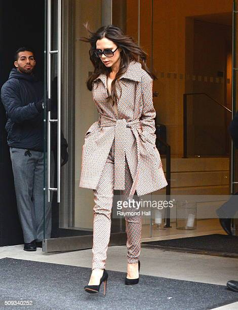 Victoria Beckham is seen walking in Soho on February 10 2016 in New York City
