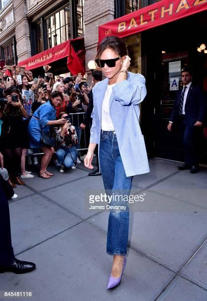 Victoria Beckham leaves Balthazar on September 10 2017 in New York City