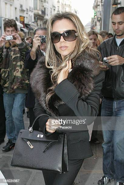 Victoria Beckham leaves the 'COLETTE' store on January 24 2006 in Paris France