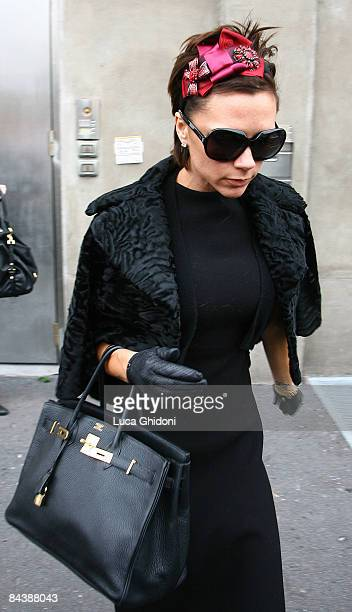 Victoria Beckham leaves the Gibo showroom on January 21 2009 in Milan Italy