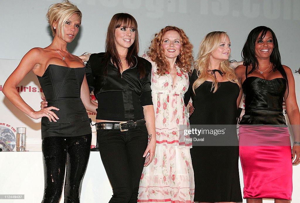 <a gi-track='captionPersonalityLinkClicked' href=/galleries/search?phrase=Victoria+Beckham&family=editorial&specificpeople=161100 ng-click='$event.stopPropagation()'>Victoria Beckham</a>, Mel C, Geri Halliwell, <a gi-track='captionPersonalityLinkClicked' href=/galleries/search?phrase=Emma+Bunton&family=editorial&specificpeople=201973 ng-click='$event.stopPropagation()'>Emma Bunton</a> and Mel B from The <a gi-track='captionPersonalityLinkClicked' href=/galleries/search?phrase=Spice+Girls&family=editorial&specificpeople=534365 ng-click='$event.stopPropagation()'>Spice Girls</a>