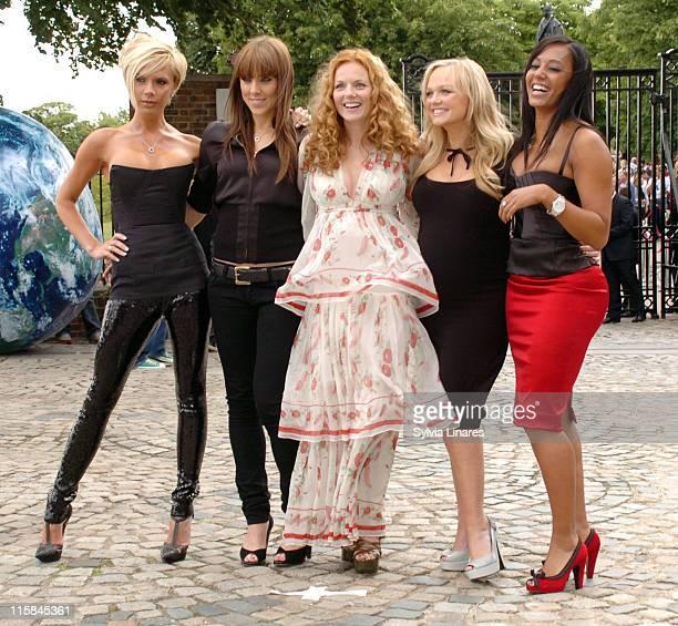 Victoria Beckham Mel C Geri Halliwell Emma Bunton and Mel B from The Spice Girls