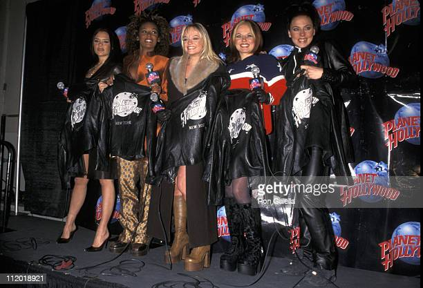 Victoria Beckham Melanie Brown Emma Bunton Geri Halliwell and Melanie Chisholm of Spice Girls