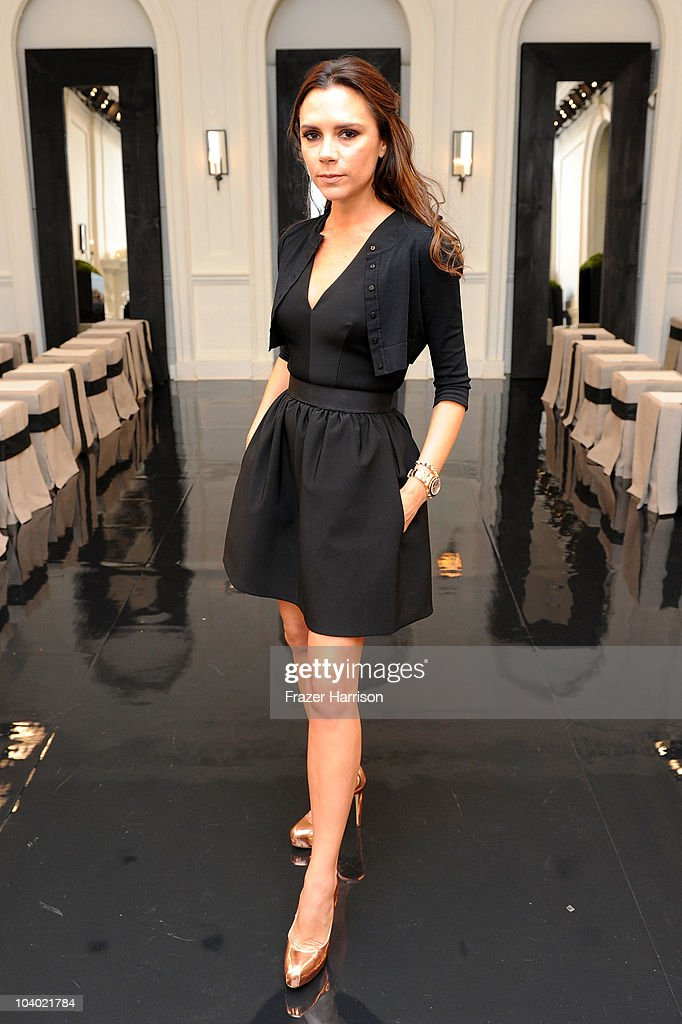 <a gi-track='captionPersonalityLinkClicked' href=/galleries/search?phrase=Victoria+Beckham&family=editorial&specificpeople=161100 ng-click='$event.stopPropagation()'>Victoria Beckham</a> poses backstage at the <a gi-track='captionPersonalityLinkClicked' href=/galleries/search?phrase=Victoria+Beckham&family=editorial&specificpeople=161100 ng-click='$event.stopPropagation()'>Victoria Beckham</a> Dresses Spring 2011 presentation during Mercedes-Benz Fashion Week at on September 12, 2010 in New York City.