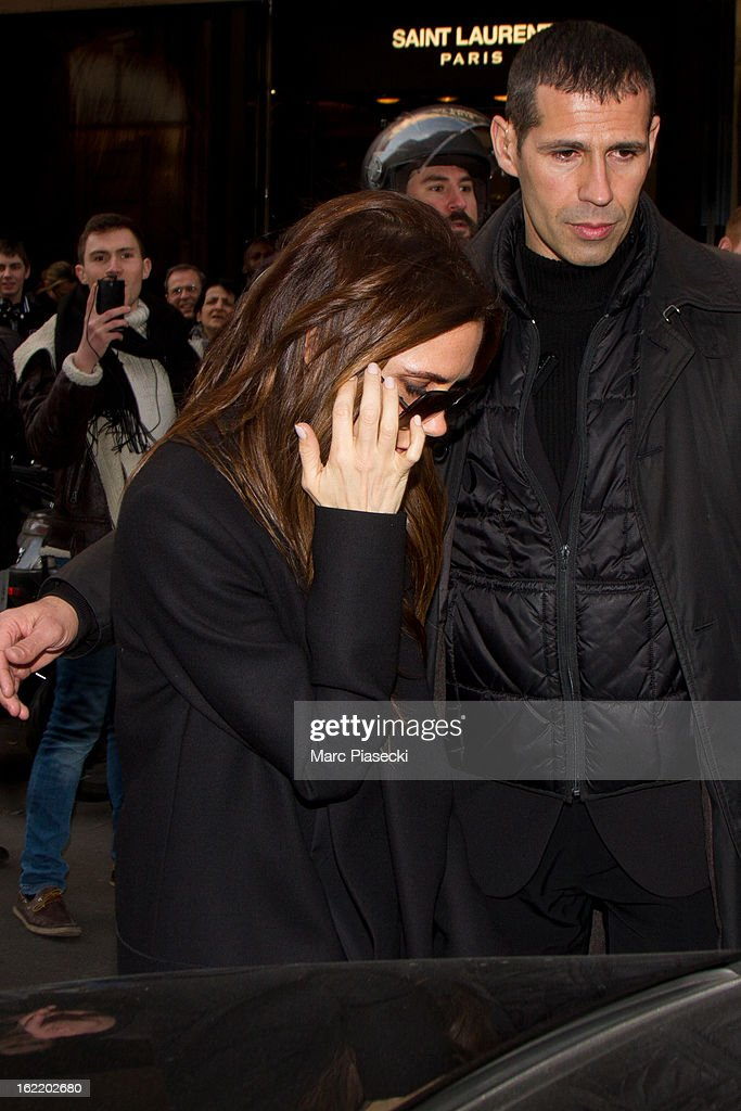 <a gi-track='captionPersonalityLinkClicked' href=/galleries/search?phrase=Victoria+Beckham&family=editorial&specificpeople=161100 ng-click='$event.stopPropagation()'>Victoria Beckham</a> sighted on February 20, 2013 in Paris, France.