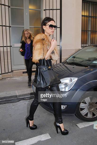 Victoria Beckham sighting while shopping at Stella McCartney boutique on December 12 2009 in Paris France