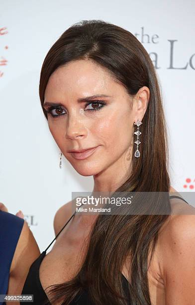 Victoria Beckham The Global Gift Gala at Four Seasons Hotel on November 30 2015 in London England