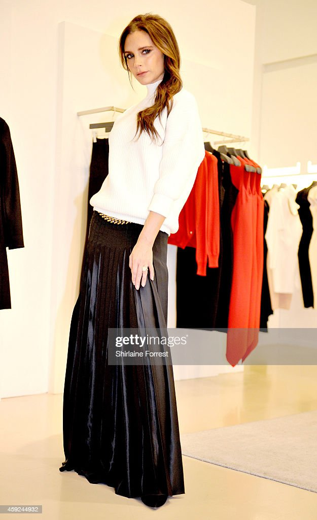 Victoria Beckham visits her boutique in Selfridges on November 19 2014 in Manchester England