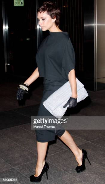Victoria Beckham visits NOBU restaurant in midtown Manhattan on December 5 2008 in New York City