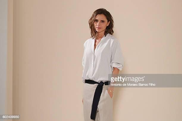 Victoria Beckham walks the runway at Victoria Beckham show during New York Fashion Week on September 11 2016 in New York City