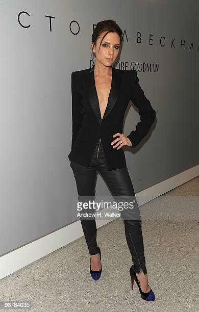 Victoria Beckham wearing 'Victoria Beckham Denim' hosts the Bergdorf Goodman launch of her new collection 'Victoria Beckham Denim' at Bergdorf...