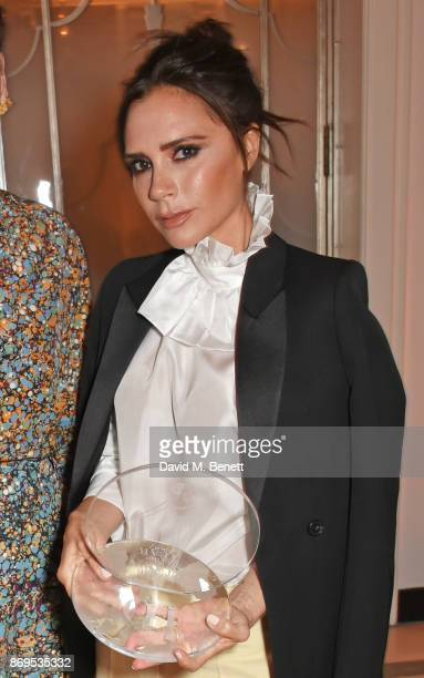 Victoria Beckham winner of the British Brand of the Year award attends Harper's Bazaar Women of the Year Awards in association with Ralph Russo...